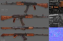 AK-74 Assault Rifle Model by  in Weapons