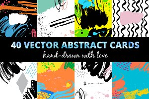 40 Vector Abstract Cards