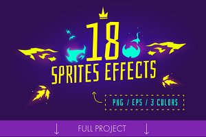 18 sprite effects (png, eps)