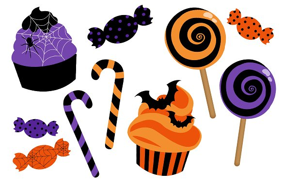 Halloween Candy Clip Art Set ~ Illustrations ~ Creative Market