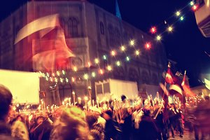 Day of independence of Latvia