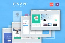 Epic UI Kit Bootstrap 3 Theme by  in Bootstrap