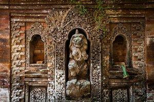 The demon queen statue in Ubud, Bali
