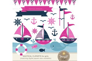 Nautical Girls Cliparts