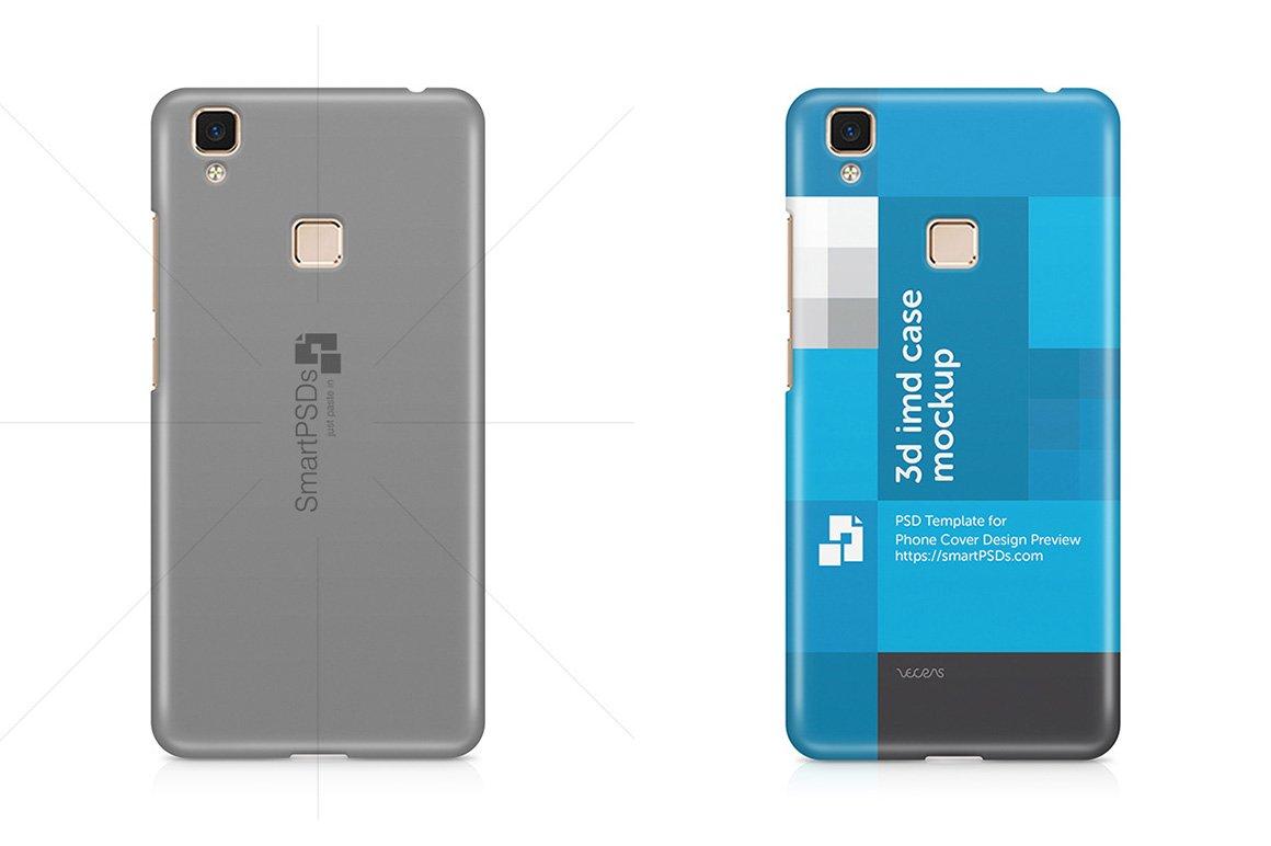 Vivo V3 Max 3d Phone Case Mockup