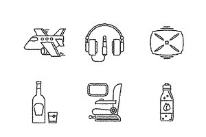 Sketched travel iconset