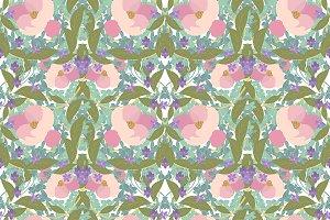 №164 Vintage floral pattern