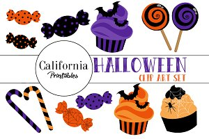 Halloween Candy Clip Art Set
