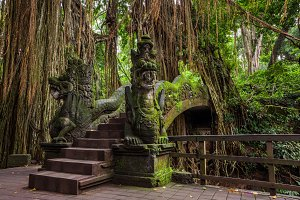 Dragon Bridge in Monkey Forest, Bali