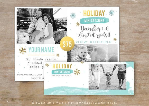 Winter Mini Session Template in Flyer Templates