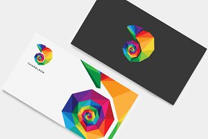 Multicolored Chameleon logo mark
