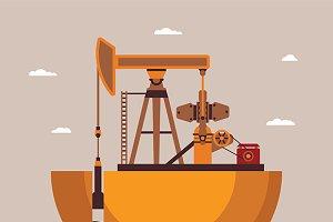 Mineral oil mining