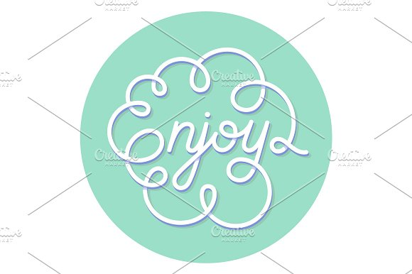 Enjoy. Hand lettering - Illustrations