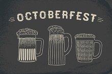 Beer set for Oktoberfest