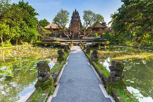 Pura Saraswati Temple, Ubud, Bali, Indonesia