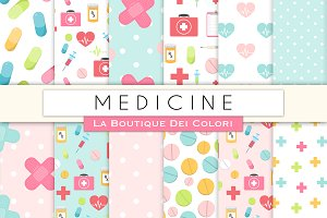 Medicine Seamless Digital Paper