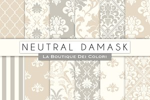 Neutral Damask Digital Paper