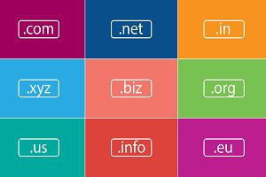 Domain Name Extensions Vector