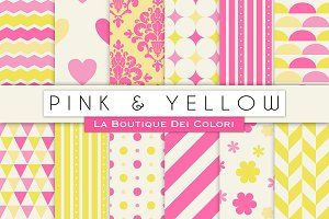 Pink and Yellow Digital Paper