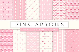 Pink Arrow Seamless Digital Paper