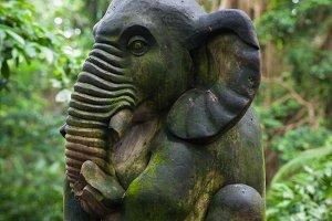 Long-tailed monkey in Ubud, Bali