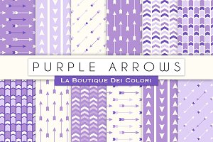 Purple Arrow Seamless Digital Paper