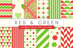 Red and Green Digital Paper