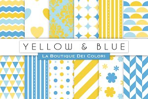 Blue and Yellow Digital Paper