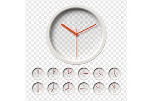 Realistic Transparent Clocks