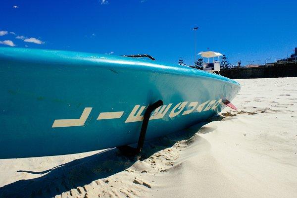 Lifeguard surf board Bondi Sydney