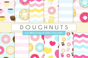 Doughnut Party Digital Paper