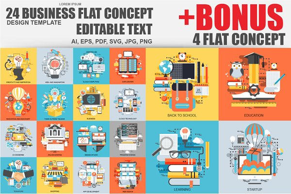 Bundle Flat Business Concept