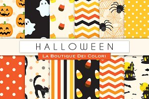 Cute Halloween Digital Paper