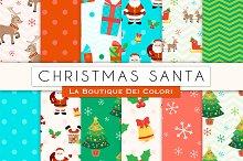 Christmas - Santa Digital Paper