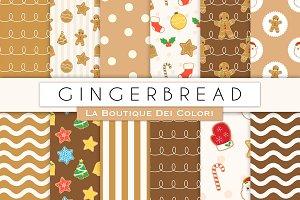Gingerbread Man Digital Paper