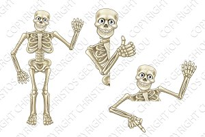Cartoon Halloween Skeleton Character