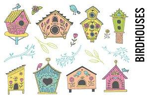 Birdhouse Doodle Clipart