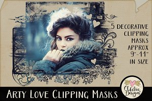 Arty Love Photography Clipping Masks