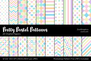 Pretty Pastel Digital Papers