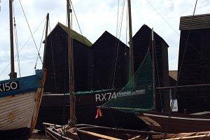 Fishing Huts and Boats