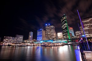 Sydney Harbor View at night