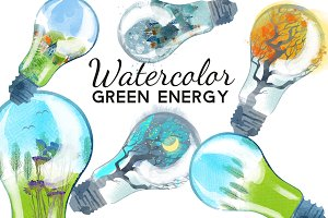 Watercolor green energy