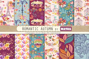 ROMANTIC AUTUMN digital paper