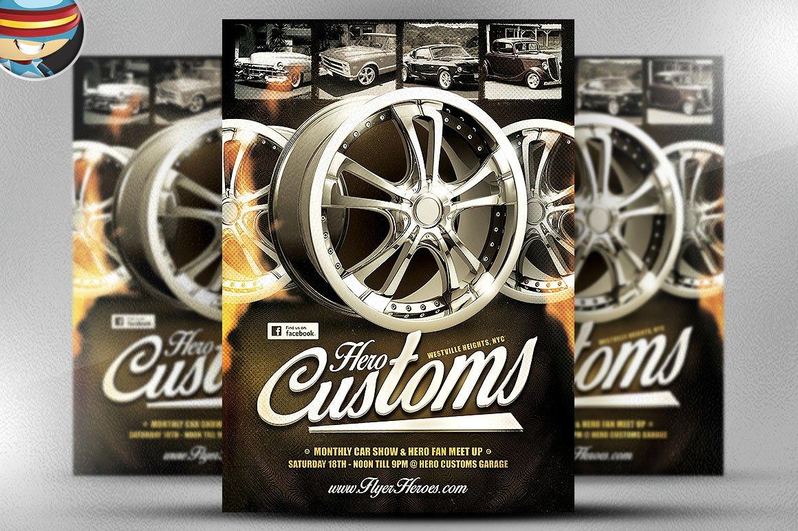 Car show Photos Graphics Fonts Themes Templates Creative Market – Car Show Flyer Template
