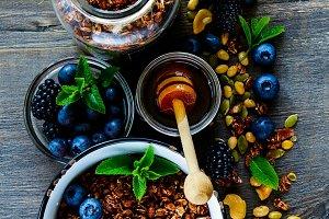 Ingredients for healthy breakfast