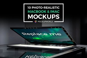 10 iMac and MacBook Mockups