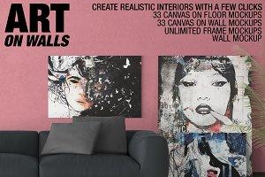 Canvas Mockups - Frames Mockups v 3