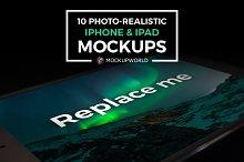 10 iPhone and iPad Mockups