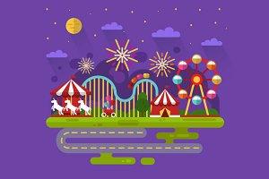 Firework Carnival Vector