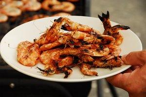 Grilled prawn